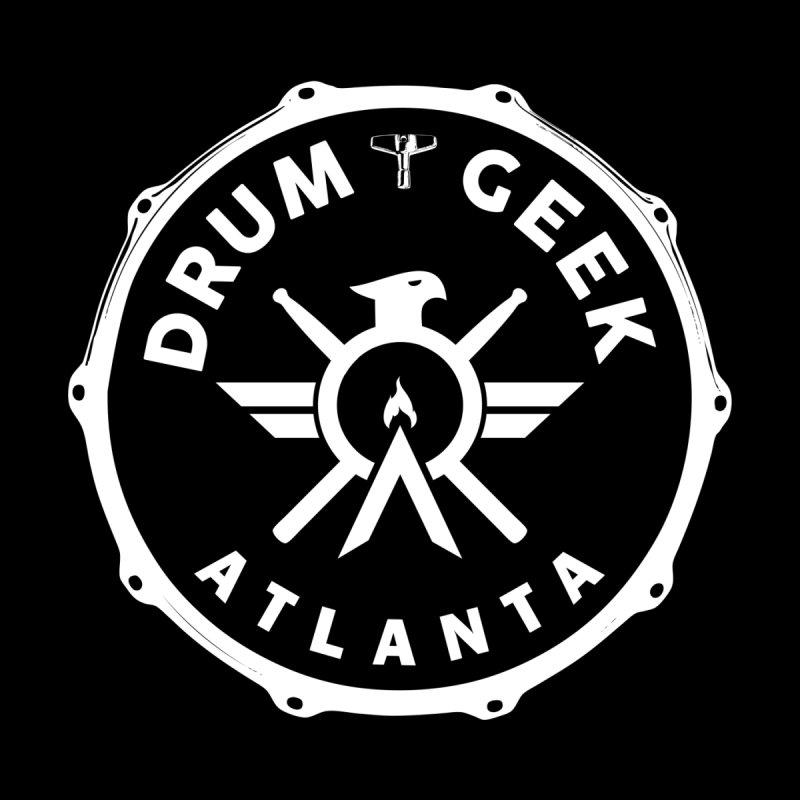 Drum Geek Atlanta - White Logo Men's T-Shirt by Drum Geek Online Shop