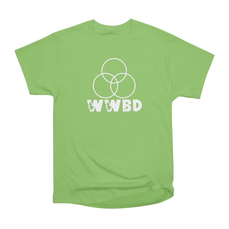 WWBD White in Men's Heavyweight T-Shirt Kiwi by Drum Geek Online Shop