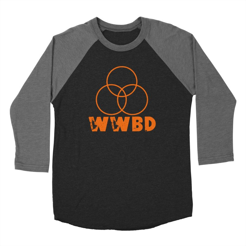 WWBD Orange in Men's Baseball Triblend Longsleeve T-Shirt Grey Triblend Sleeves by Drum Geek Online Shop