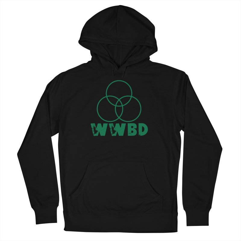 WWBD Green in Men's French Terry Pullover Hoody Black by Drum Geek Online Shop