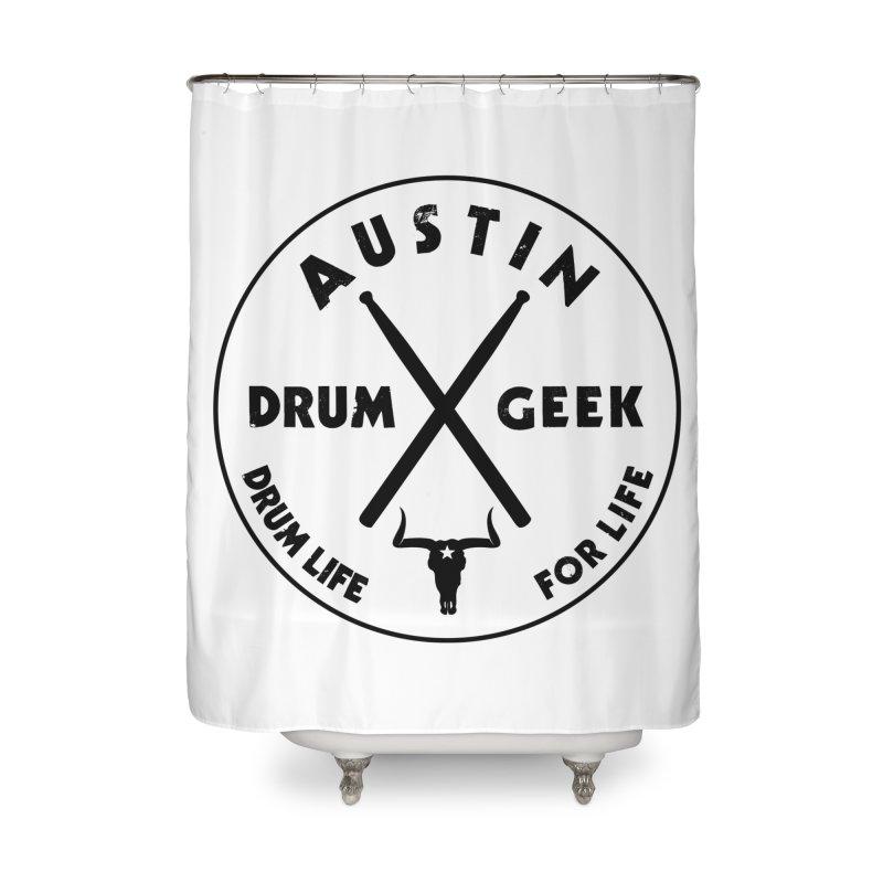 Austin Drum Geek in Shower Curtain by Drum Geek Online Shop