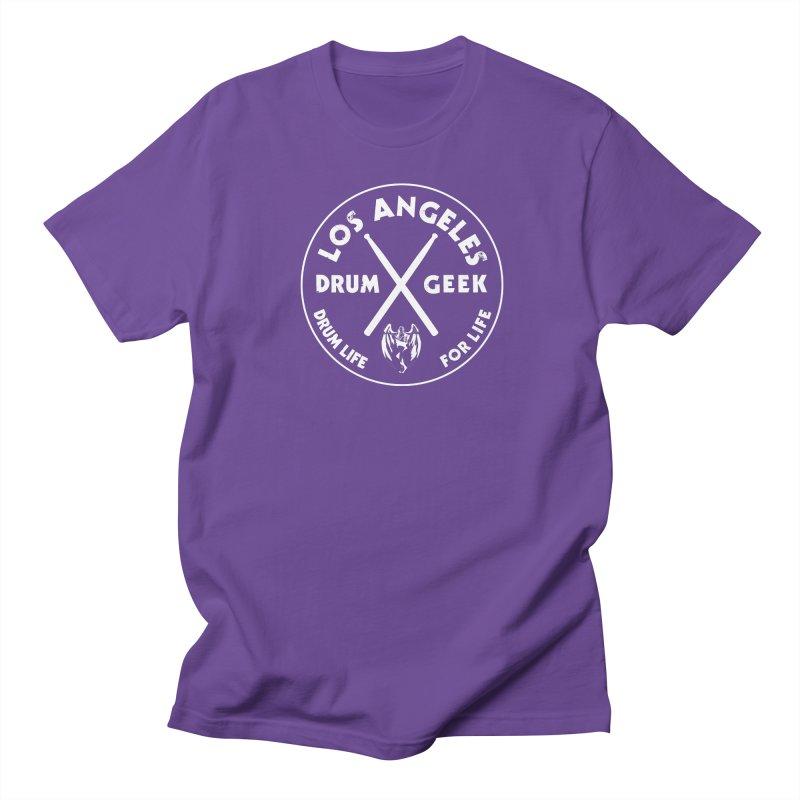 Los Angeles Drum Geek in Men's Regular T-Shirt Purple by Drum Geek Online Shop