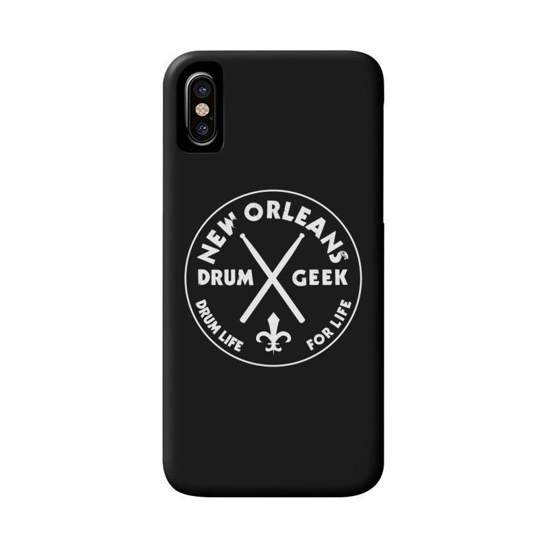 New Orleans Drum Geek in iPhone X / XS Phone Case Slim by Drum Geek Online Shop