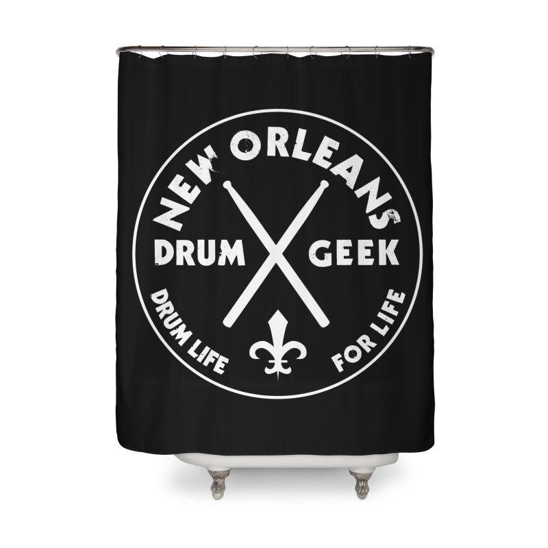 New Orleans Drum Geek in Shower Curtain by Drum Geek Online Shop