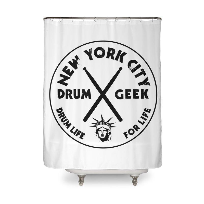 New York Drum Geek in Shower Curtain by Drum Geek Online Shop