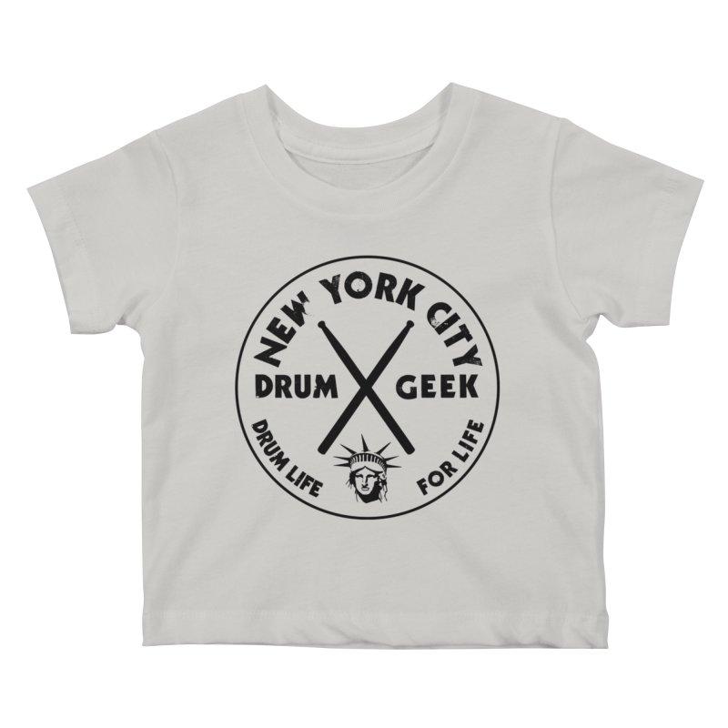 New York Drum Geek in Kids Baby T-Shirt Stone by Drum Geek Online Shop