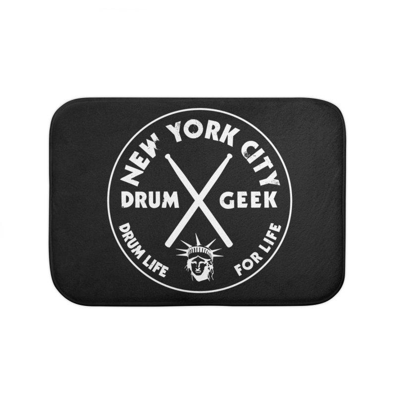 New York Drum Geek in Bath Mat by Drum Geek Online Shop