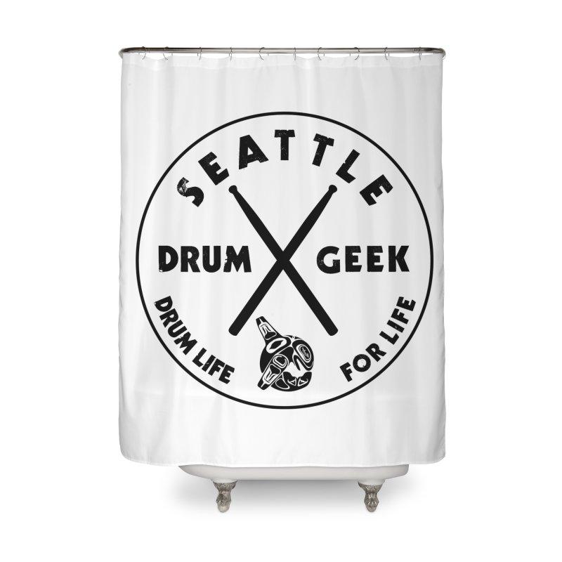 Seattle Drum Geek in Shower Curtain by Drum Geek Online Shop