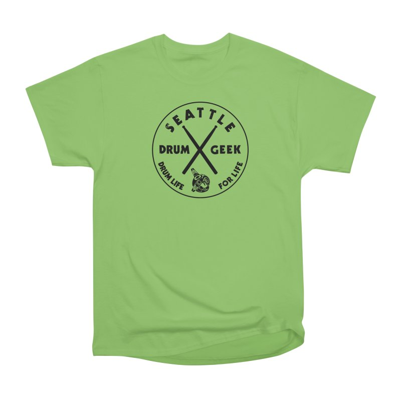 Seattle Drum Geek in Men's Heavyweight T-Shirt Kiwi by Drum Geek Online Shop