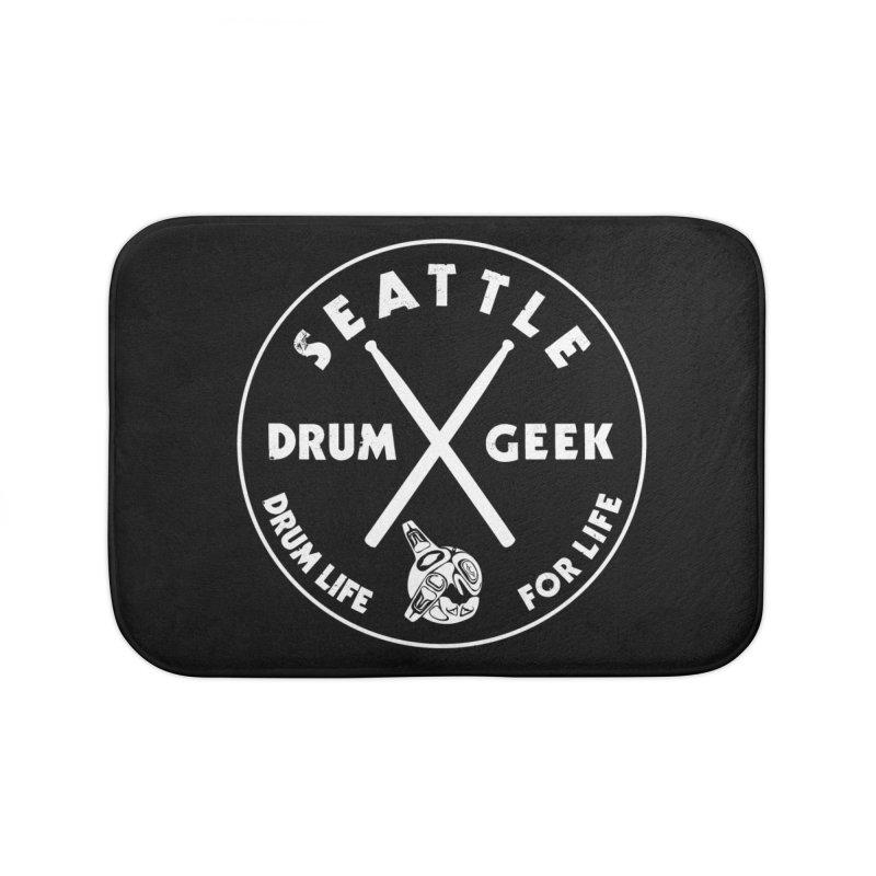 Seattle Drum Geek in Bath Mat by Drum Geek Online Shop