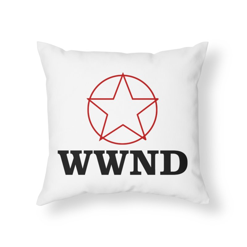 WWND in Throw Pillow by Drum Geek Online Shop