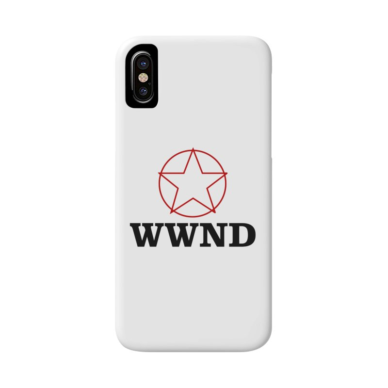 WWND in iPhone X / XS Phone Case Slim by Drum Geek Online Shop
