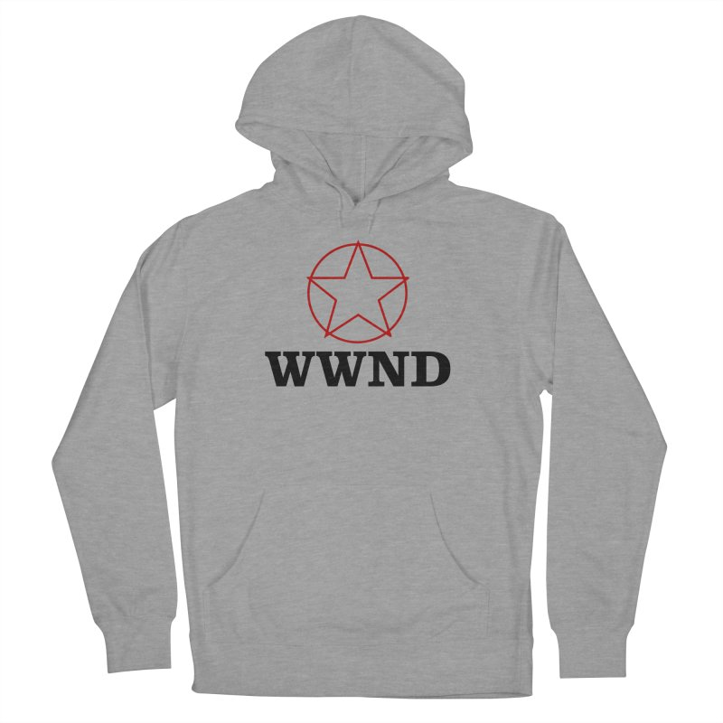 WWND in Men's French Terry Pullover Hoody Heather Graphite by Drum Geek Online Shop