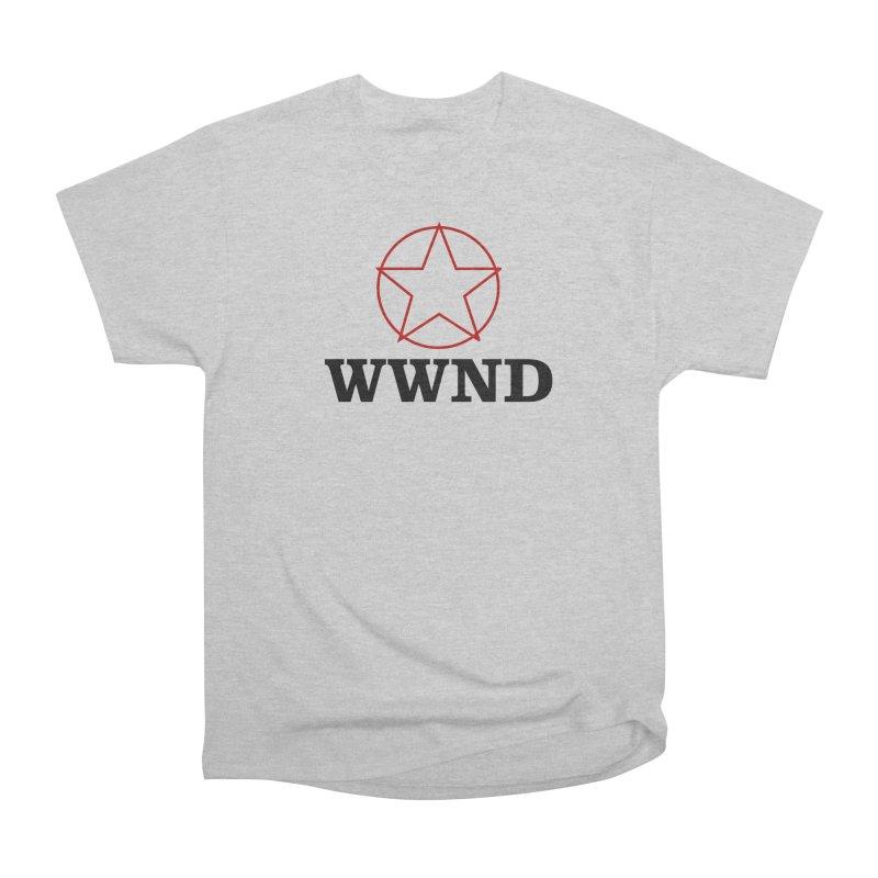 WWND in Men's Heavyweight T-Shirt Heather Grey by Drum Geek Online Shop