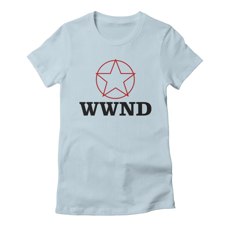 WWND in Women's Fitted T-Shirt Baby Blue by Drum Geek Online Shop
