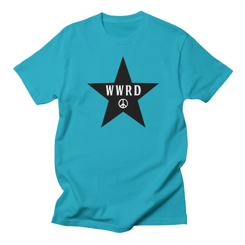 WWRD in Men's Regular T-Shirt Cyan by Drum Geek Online Shop