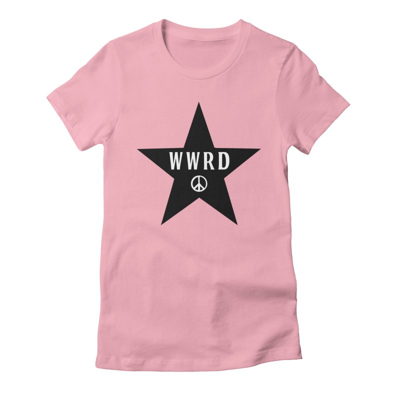WWRD in Women's Fitted T-Shirt Light Pink by Drum Geek Online Shop