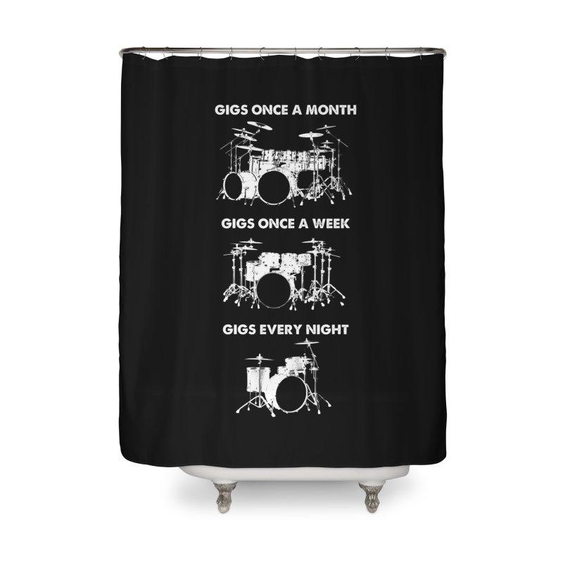 Drum Geek Plays Every Day in Shower Curtain by Drum Geek Online Shop