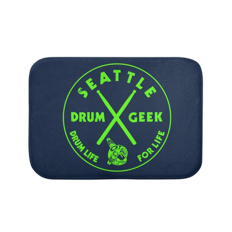 Seattle Drum Geek (Emerald City Couture) in Bath Mat by Drum Geek Online Shop