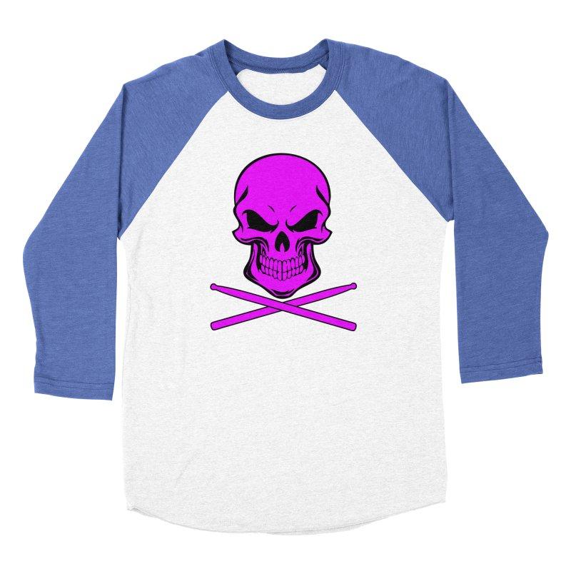 Drumskull (Bonesy Purple) Women's Baseball Triblend Longsleeve T-Shirt by Drum Geek Online Shop