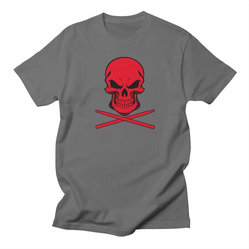 Drumskull (Bonesy Red) in Men's Regular T-Shirt Asphalt by Drum Geek Online Shop