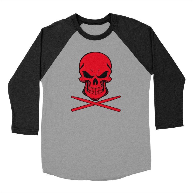 Drumskull (Bonesy Red) Women's Baseball Triblend Longsleeve T-Shirt by Drum Geek Online Shop
