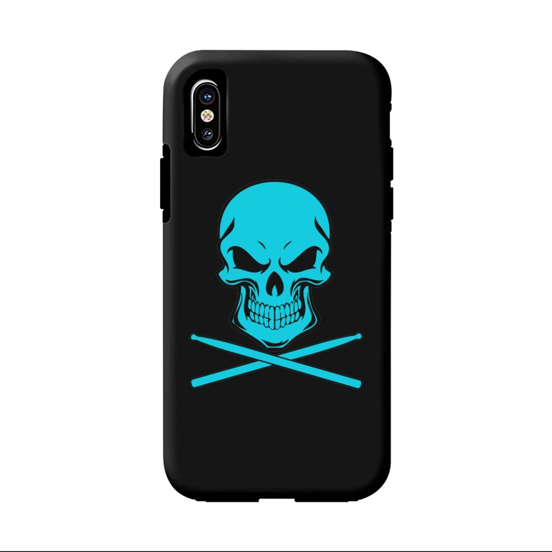Drumskull (Bonesy Blue) in iPhone X / XS Phone Case Tough by Drum Geek Online Shop