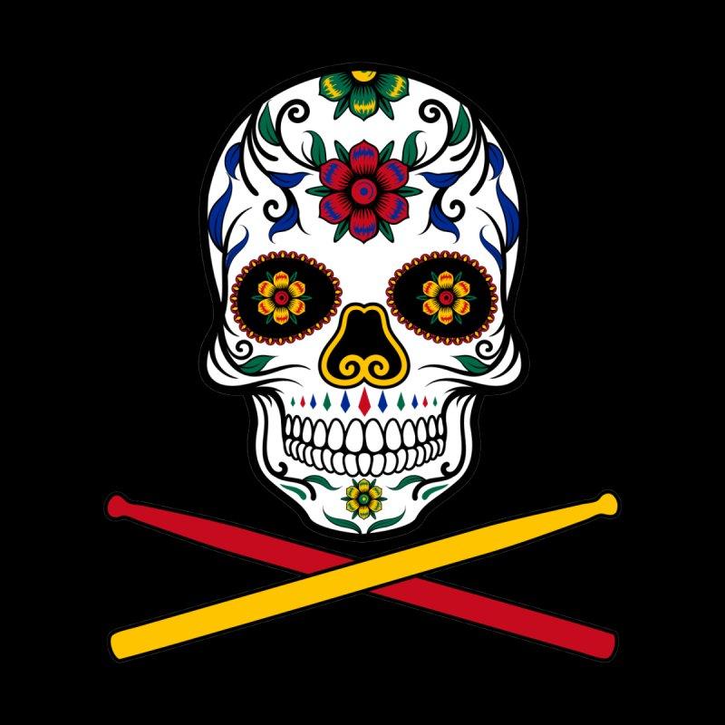 Sugar Drumskull (Bonesy from Spain) Women's Longsleeve T-Shirt by Drum Geek Online Shop