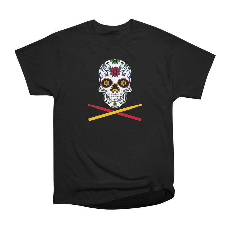 Sugar Drumskull (Bonesy from Spain) in Men's Heavyweight T-Shirt Black by Drum Geek Online Shop