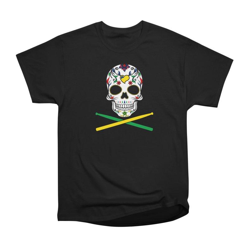 Sugar Drumskull (Bonesy from Brazil) in Men's Heavyweight T-Shirt Black by Drum Geek Online Shop