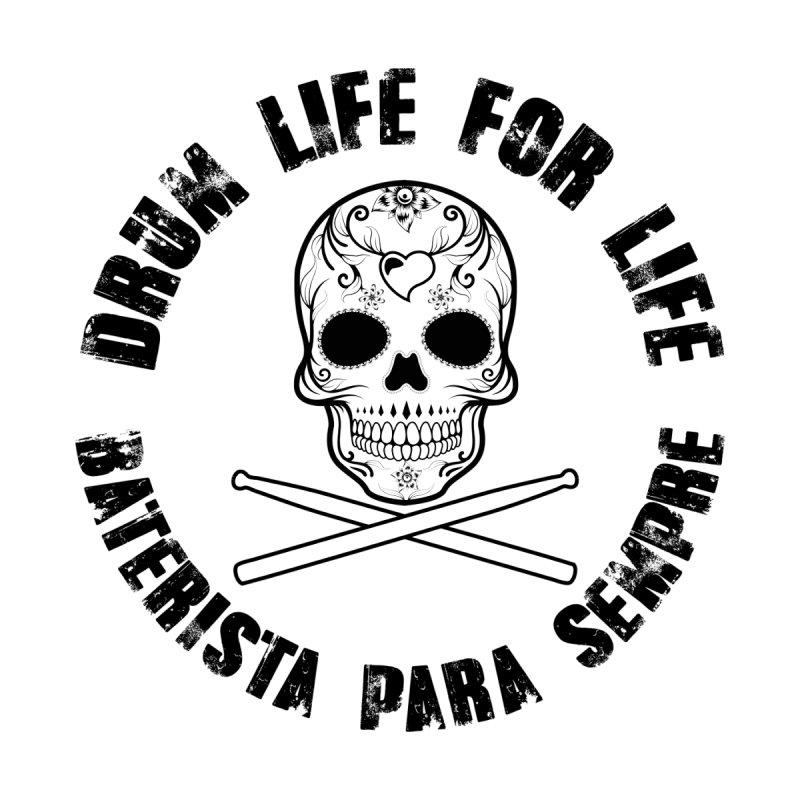 Drum Life Portuguese Sugar Skull (Transparent) Women's Longsleeve T-Shirt by Drum Geek Online Shop