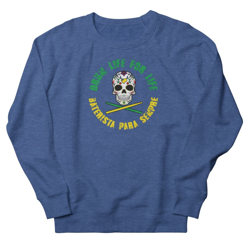 Drum Life Portuguese Sugar Skull (Color Skull/Color Font) Men's Sweatshirt by Drum Geek Online Shop