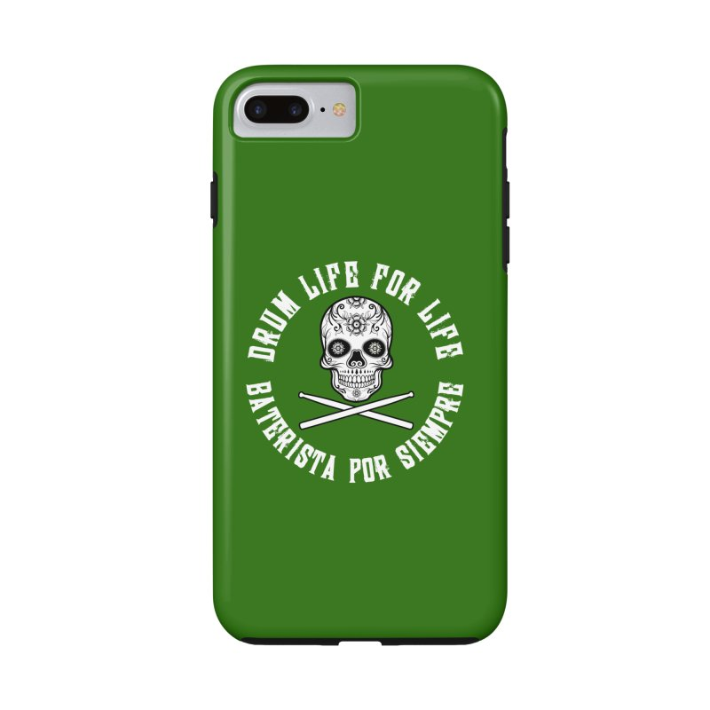 Drum Life Spanish Sugar Skull (Green Couture) in iPhone 7 Plus Phone Case Tough by Drum Geek Online Shop