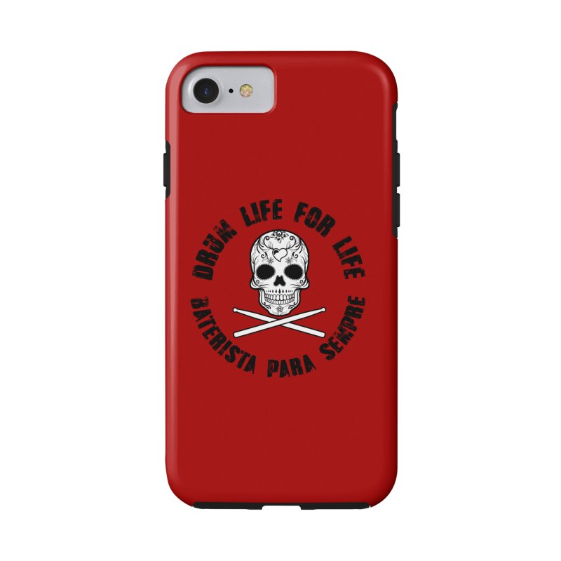 Drum Life Portuguese Sugar Skull (Red Couture Home Collection) in iPhone 8 Phone Case Tough by Drum Geek Online Shop