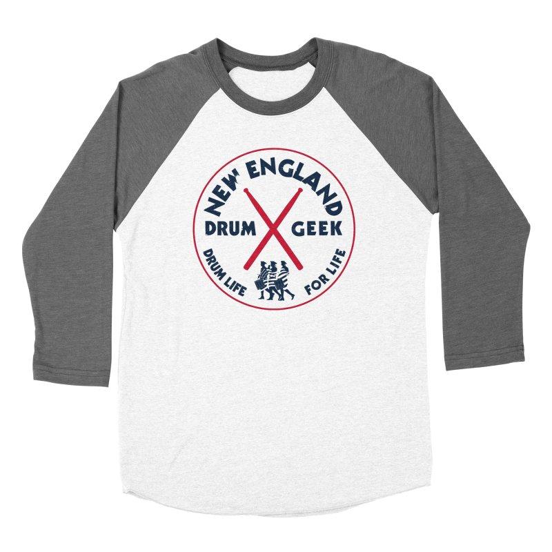 New England Drum Geek (Patriot Couture) Women's Baseball Triblend Longsleeve T-Shirt by Drum Geek Online Shop