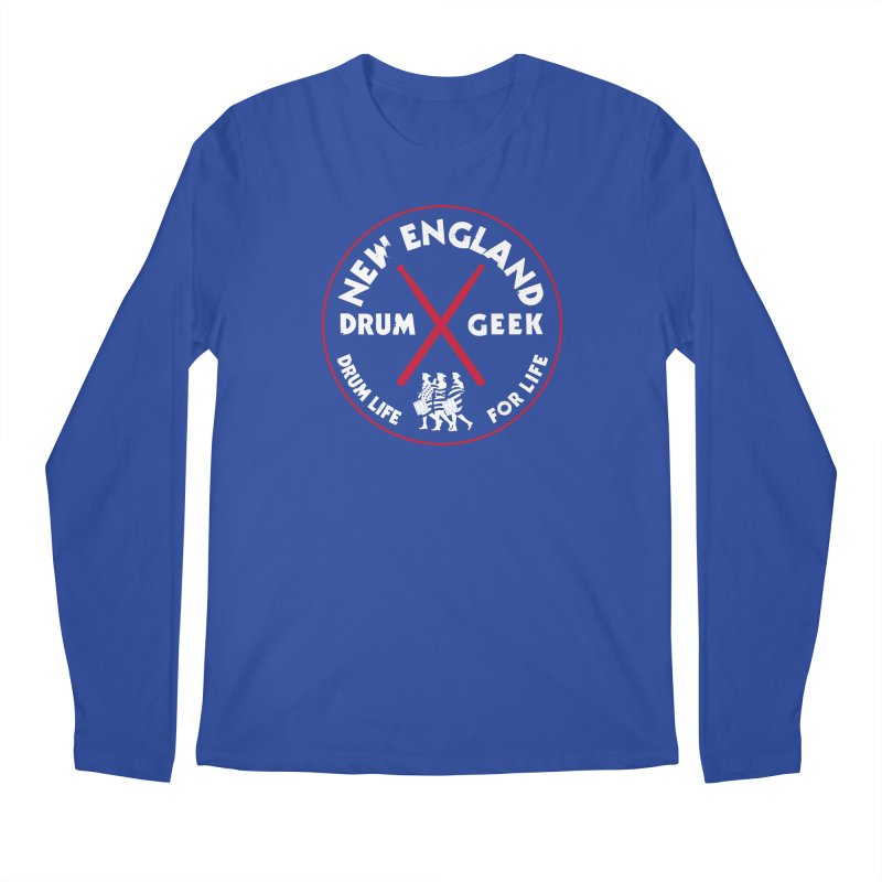 New England Drum Geek (Patriot Couture Alternate) Men's Regular Longsleeve T-Shirt by Drum Geek Online Shop