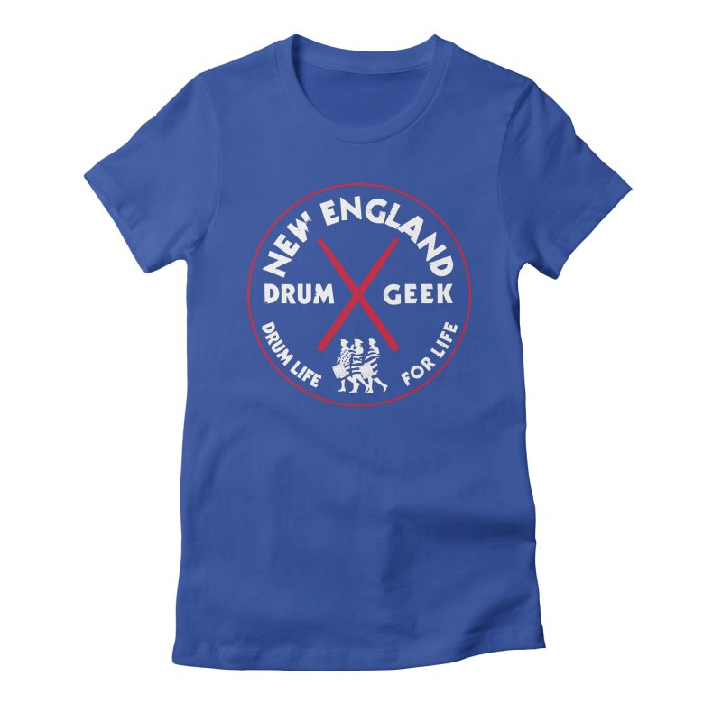 New England Drum Geek (Patriot Couture Alternate) Women's Fitted T-Shirt by Drum Geek Online Shop