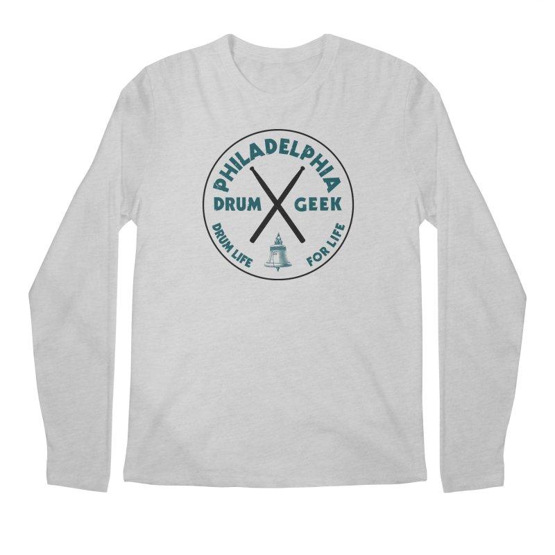 Philadelphia Drum Geek Eagle Couture Men's Longsleeve T-Shirt by Drum Geek Online Shop