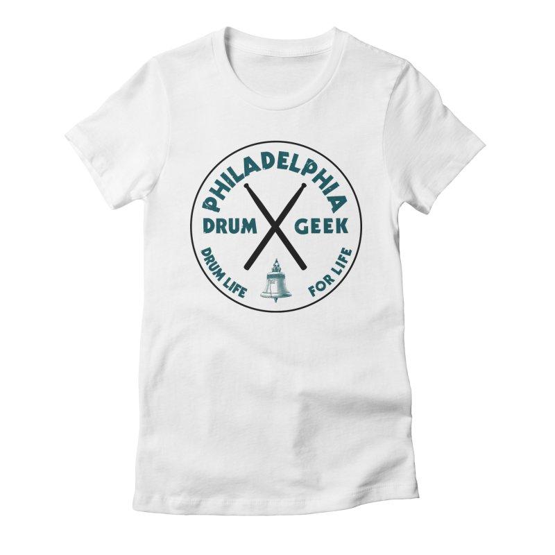Philadelphia Drum Geek Eagle Couture Women's T-Shirt by Drum Geek Online Shop