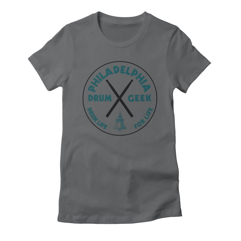 Philadelphia Drum Geek Eagle Couture Women's Fitted T-Shirt by Drum Geek Online Shop