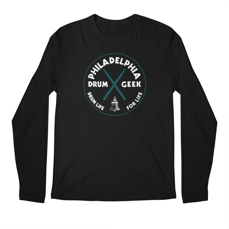 Philadelphia Drum Geek Eagle Couture Alternate Men's Regular Longsleeve T-Shirt by Drum Geek Online Shop