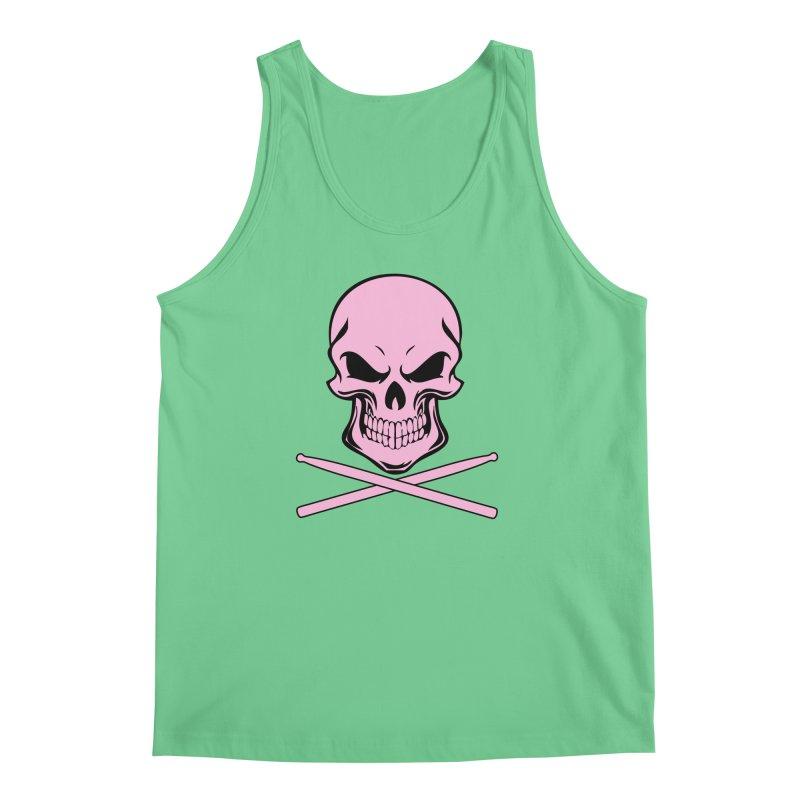 Drumskull (Bonesy Pink) Men's Regular Tank by Drum Geek Online Shop