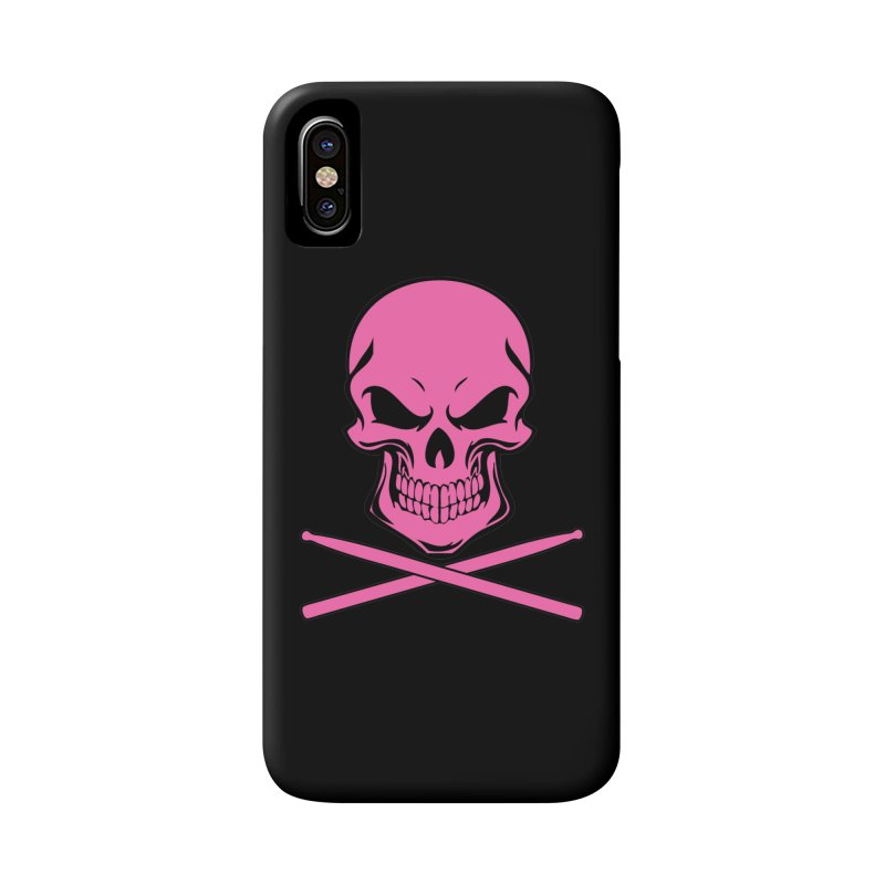 Drumskull (Bonesy Hot Pink) Accessories Phone Case by Drum Geek Online Shop