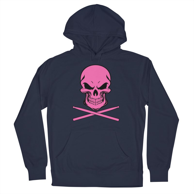 Drumskull (Bonesy Hot Pink) Men's Pullover Hoody by Drum Geek Online Shop