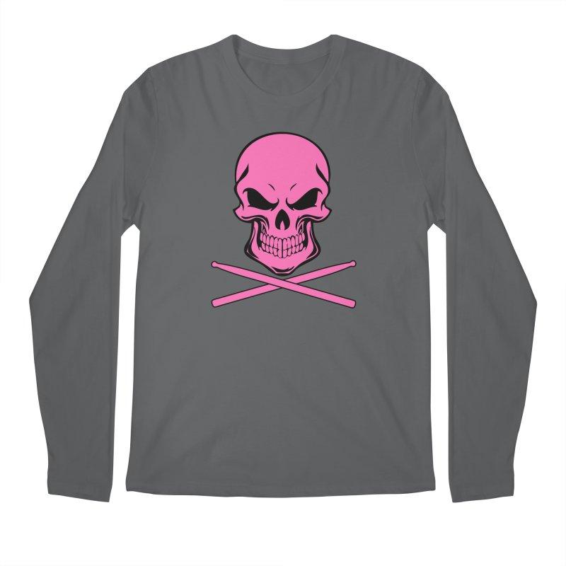 Drumskull (Bonesy Hot Pink) Men's Longsleeve T-Shirt by Drum Geek Online Shop