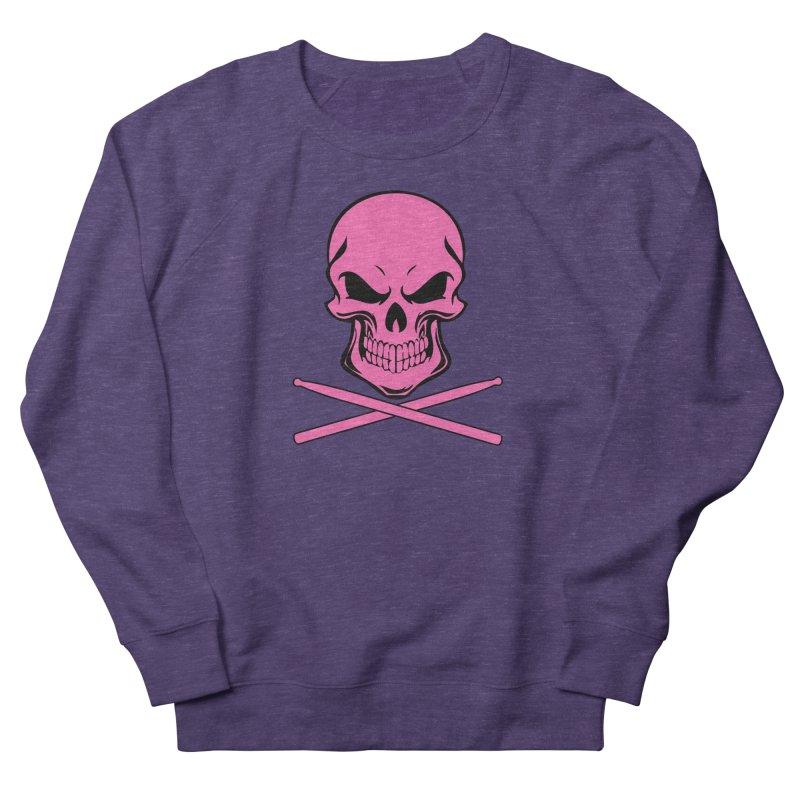 Drumskull (Bonesy Hot Pink) Men's Sweatshirt by Drum Geek Online Shop