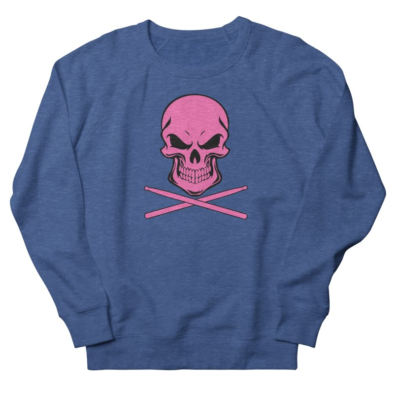Drumskull (Bonesy Hot Pink) Men's Sweatshirt by Drum Geek Online Shop