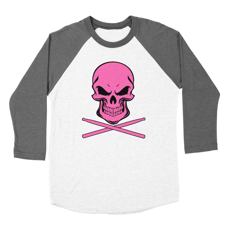 Drumskull (Bonesy Hot Pink) Women's Longsleeve T-Shirt by Drum Geek Online Shop