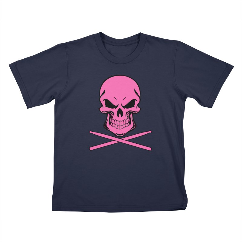 Drumskull (Bonesy Hot Pink) Kids T-Shirt by Drum Geek Online Shop