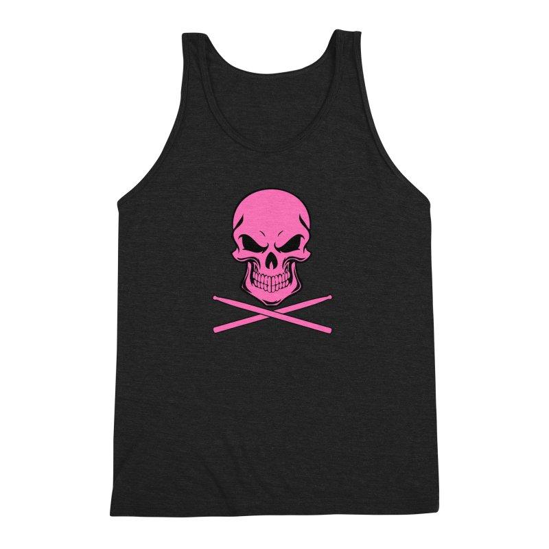 Drumskull (Bonesy Hot Pink) Men's Tank by Drum Geek Online Shop